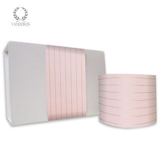 PINSTRIPE UNCOATED SKINNY WRAP CAMEO PINK/GOLD 80gsm 10cmX60M