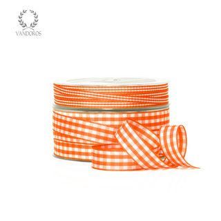 CH001-31 ORANGE GINGHAM 15mmX50M