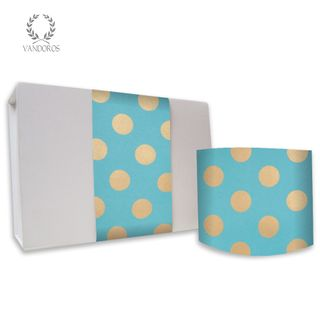 PEARLS UNCOATED SKINNY WRAP TURQUOISE/GOLD 80gsm 10cmX60M
