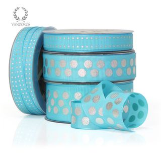 ZOE FLORENCE SPOTS TURQUOISE/SILVER 15mmX50M