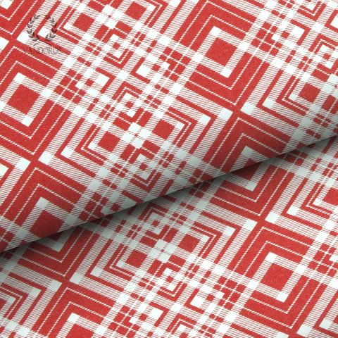 TARTAN UNCOATED RED/WHITE 80gsm