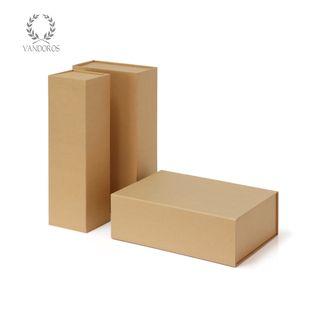 FOLDABLE GIFT BOX KRAFT 350 X 100 X 100mm (1 BOTTLE)