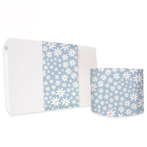 SKINNY WRAP UNCOATED DAISY CHAIN PAVILION BLUE 80gsm