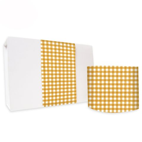 SKINNY WRAP UNCOATED GINGHAM TOFFEE 80gsm
