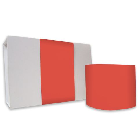SKINNY WRAP UNCOATED PLAIN POPPY RED 80gsm