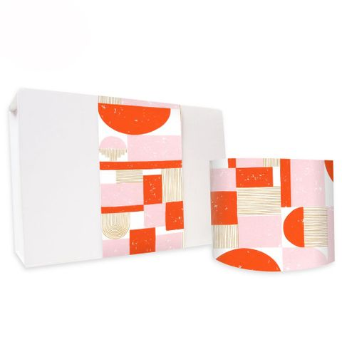 SKINNY WRAP UNCOATED SAHARA POPPY RED/PINK 80gsm
