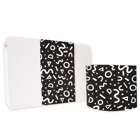 SKINNY WRAP UNCOATED SQUIGGLE BLACK 80gsm