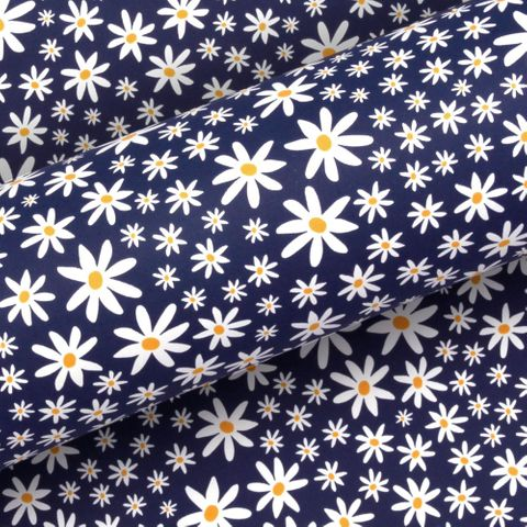 DAISY CHAIN NAVY UNCOATED 80gsm