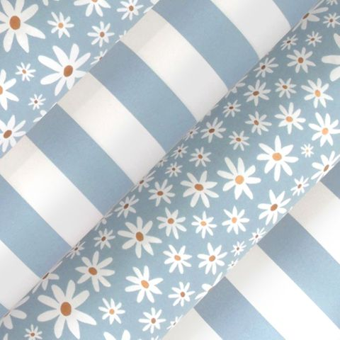 DAISY CHAIN PAVILION BLUE UNCOATED COLLECTION