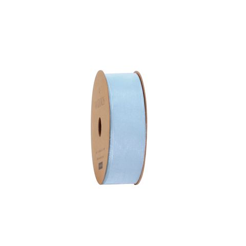 10M ORGANDY LIGHT BLUE 25mm