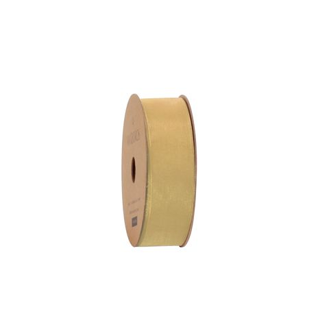 10M ORGANDY ANTIQUE GOLD 25mm