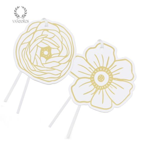 CHLOE GIFT TAG WHITE/GOLD PACK OF 6