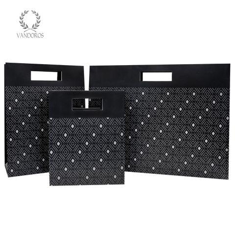TRIBAL DIAMONDS MATT BAG BLACK/GREY
