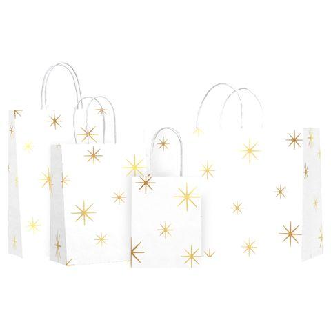 TWISTED HANDLE BAG NORTH STAR GOLD FOIL
