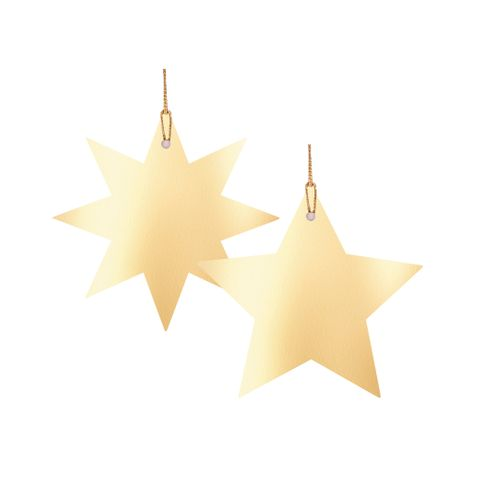 STAR LIGHT GIFT TAG GOLD PACK OF 6