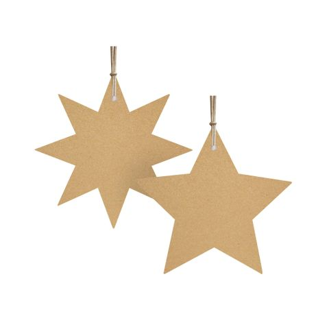 STAR LIGHT GIFT TAG KRAFT PACK OF 6
