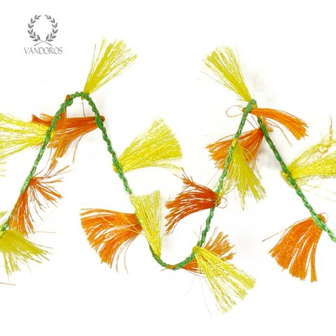 2395-66 YELLOW/ORANGE FRINGE WIRE