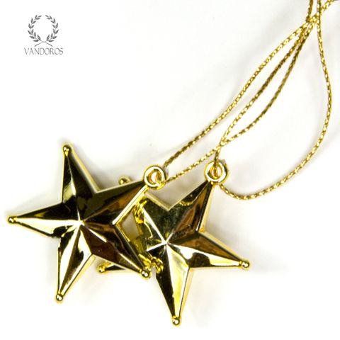 35mm GOLD STARS (S/100pcs)