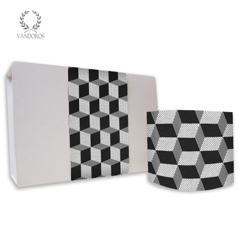 SKINNY WRAP CUBIC UNCOATED BLACK/WHITE 80gsm