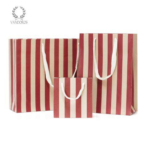 PAVILION KRAFT BAG SPICE RED/WHITE