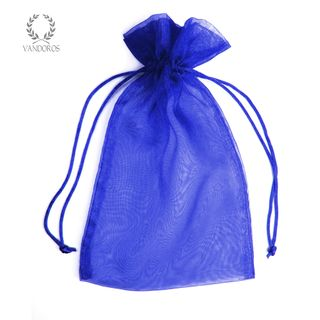 ORGANZA BAG ROYAL BLUE C - 15cmX24cm
