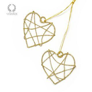 FLAT SINGLE HEART 40mm (SMALL) GOLD