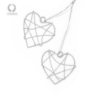 FLAT SINGLE HEART 40mm (SMALL) SILVER