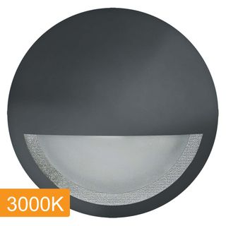 Manix 5w LED Step Light with Eyelid - 240v - Black - 3000K