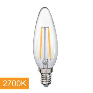 Candle C35 4w LED Filament - E14 - 2700K