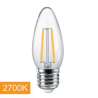 Candle C35 4w LED Filament - E27 - 2700K