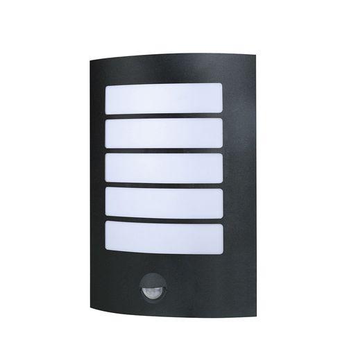 Stark LED Wall Light - BLK - Sensor - 6000K