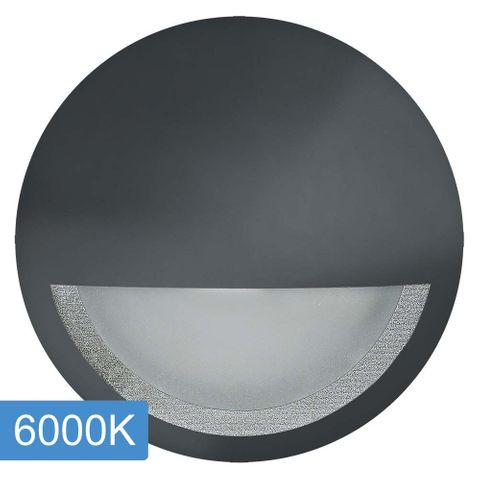 Manix 5w LED Step Light with Eyelid - 240v - Black - 6000K