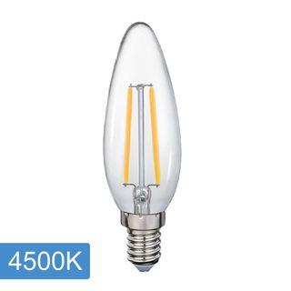 Candle C35 4w LED Filament - E14 - 4500K