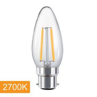 Candle C35 4w LED Filament - B22 - 2700K