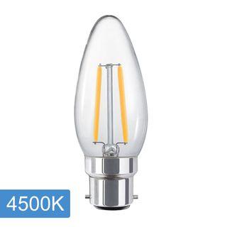 Candle C35 4w LED Filament - B22 - 4500K