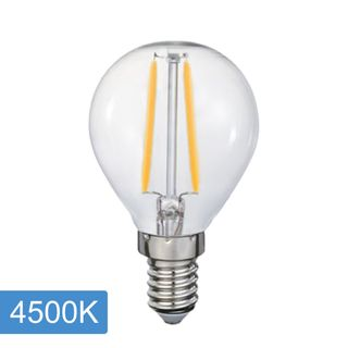 Fancy Round P45 4w LED Filament - E14 - 4500K