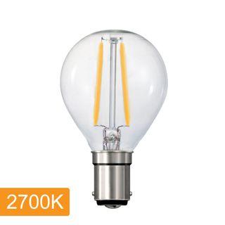 Fancy Round P45 4w LED Filament - B15 - 2700K