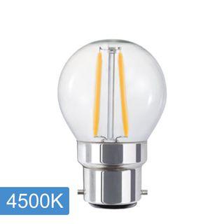 Fancy Round P45 4w LED Filament - B22 - 4500K