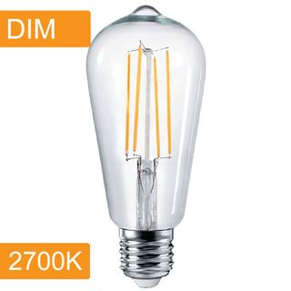 Pear ST64 4w LED Filament - Dim - E27 - 2700K