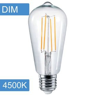 Pear ST64 4w LED Filament - Dim - E27 -4500K