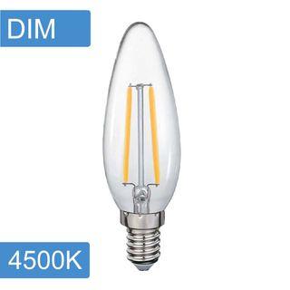 Candle C35 4w LED Filament - Dim - E14 - 4500K