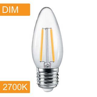 Candle C35 4w LED Filament - Dim - E27 - 2700K