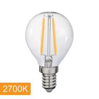 Fancy Round P45 4w LED Filament - E14 - 2700K