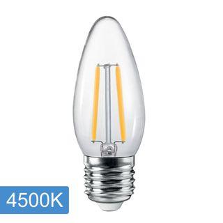 Candle C35 4w LED Filament - E27 - 4500K