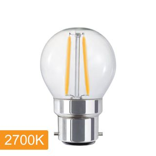 Fancy Round P45 4w LED Filament - B22 - 2700K