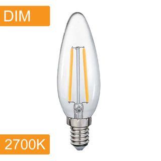 Candle C35 4w LED Filament - Dim - E14 - 2700K