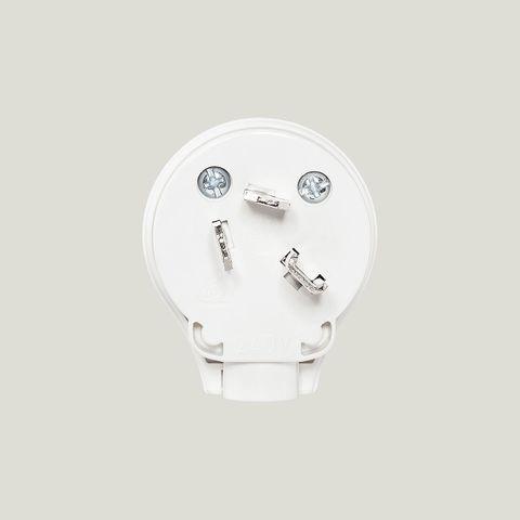3 Pin 32A 250V Power Entry Plug Top, White
