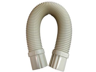 Flex Round Duct 0.67meter 80mm UV Ivory