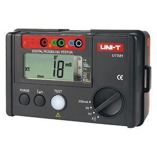 UNI-T UT581 Digital RCD (ELCB) Testers Data Hold Over-Range Display