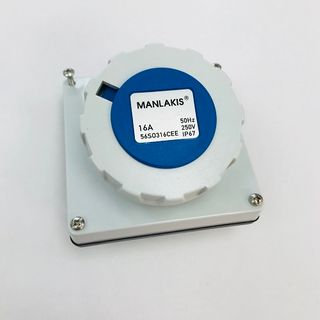 MANLAKIS SOCKET OUTLET 3 PIN ROUND 16A WITHOUT BASE